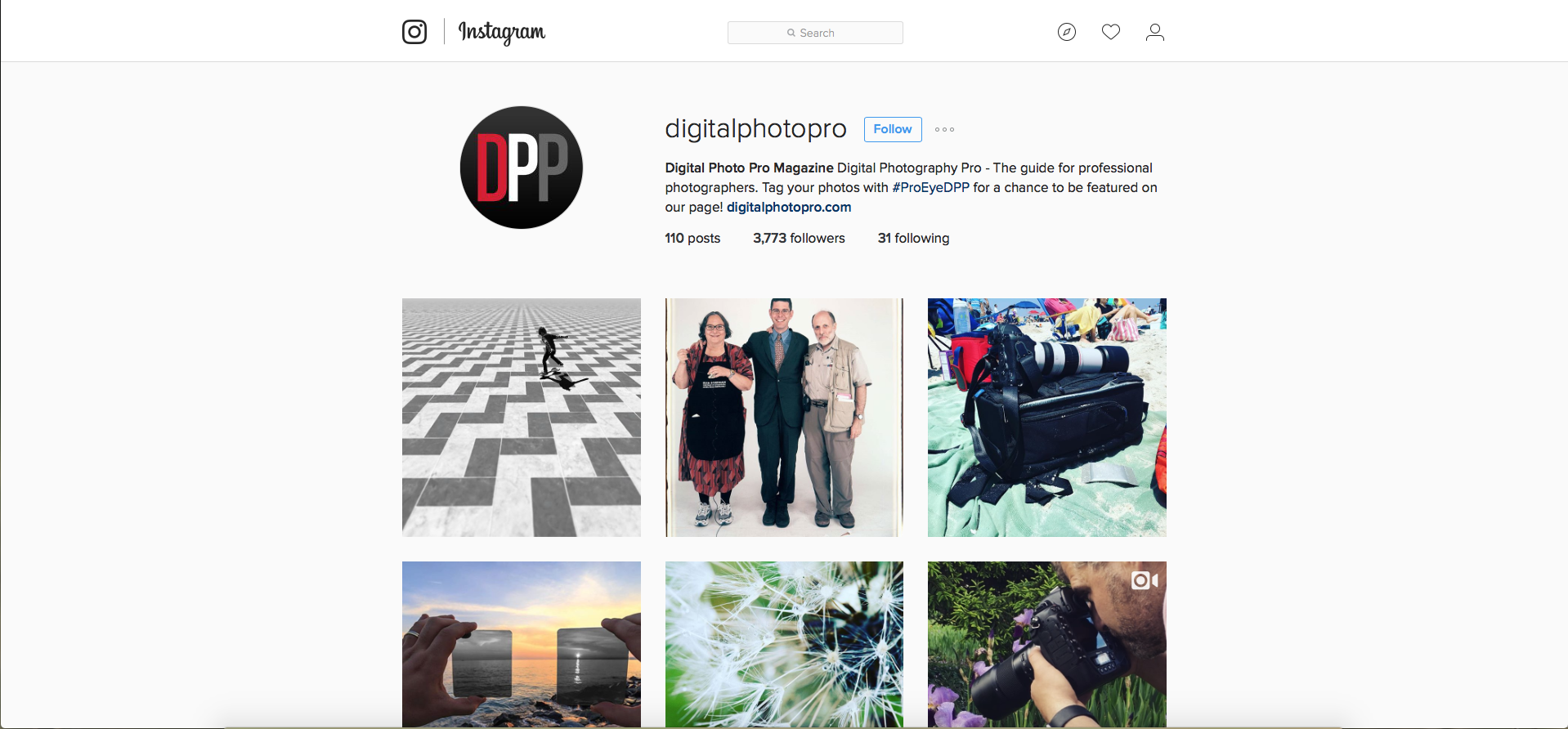 DPP Instagram Home