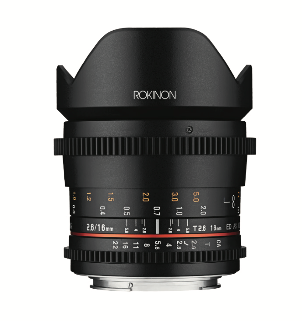 Rokinon Cine DS 16mm T2.6 lens