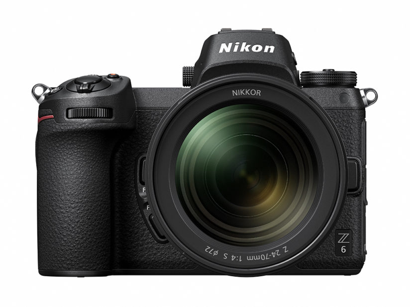 The 24.5-megapixel Nikon Z 6 shown with the NIKKOR Z 24-70mm f/4 S