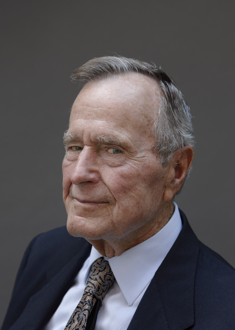 Portrait of former U.S. President George H.W. Bush, shot for Esquire magazine.