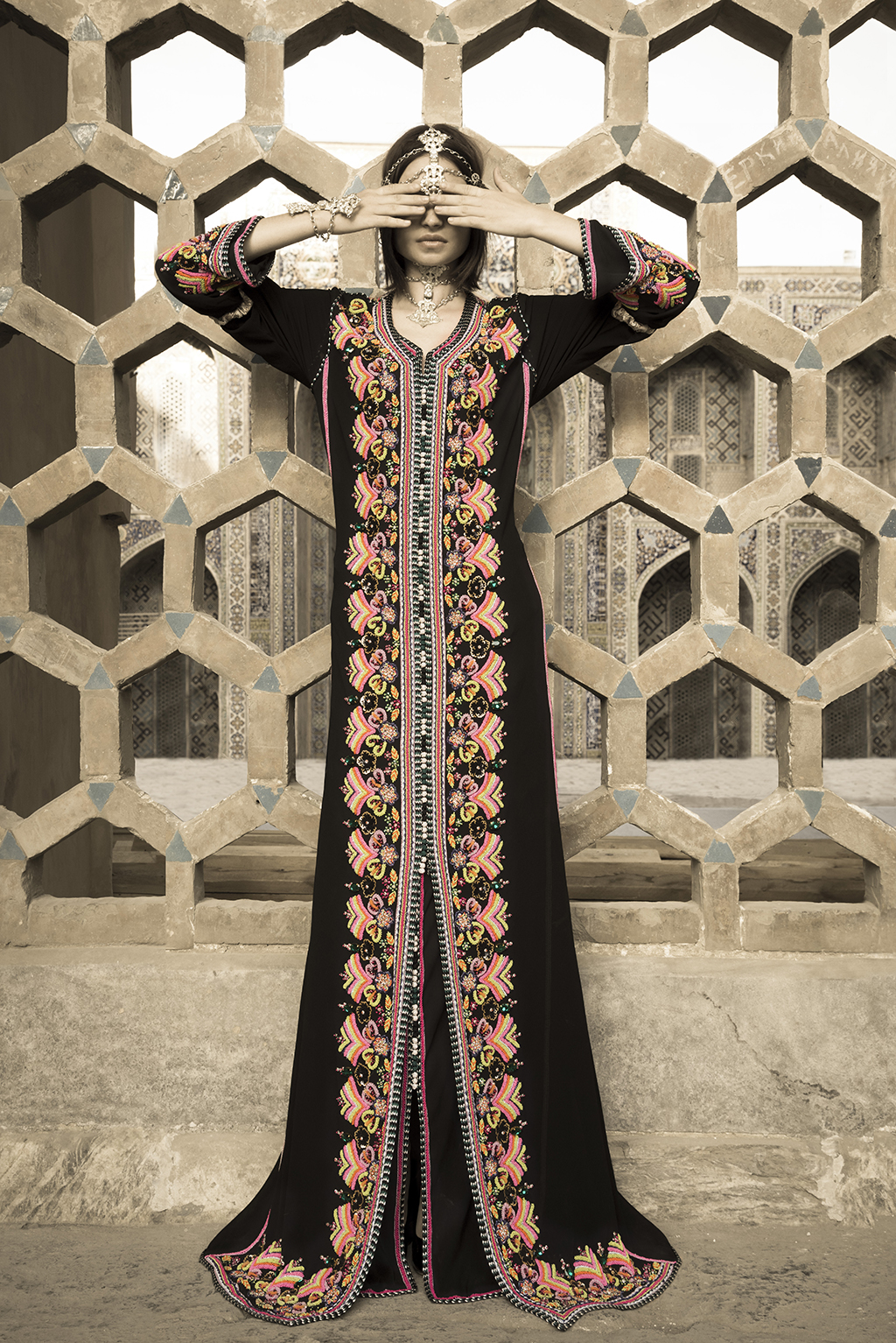 Photo shoot for FBK couture in Samarkand, Uzbekistan, for Al-Sharkiah magazine.