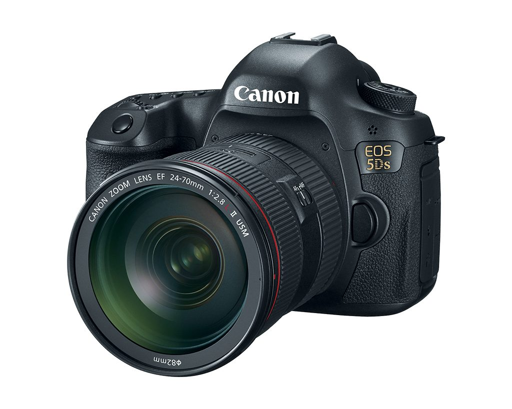 Canon EOS 5DS full-frame DSLR with the 24-70mm lens.