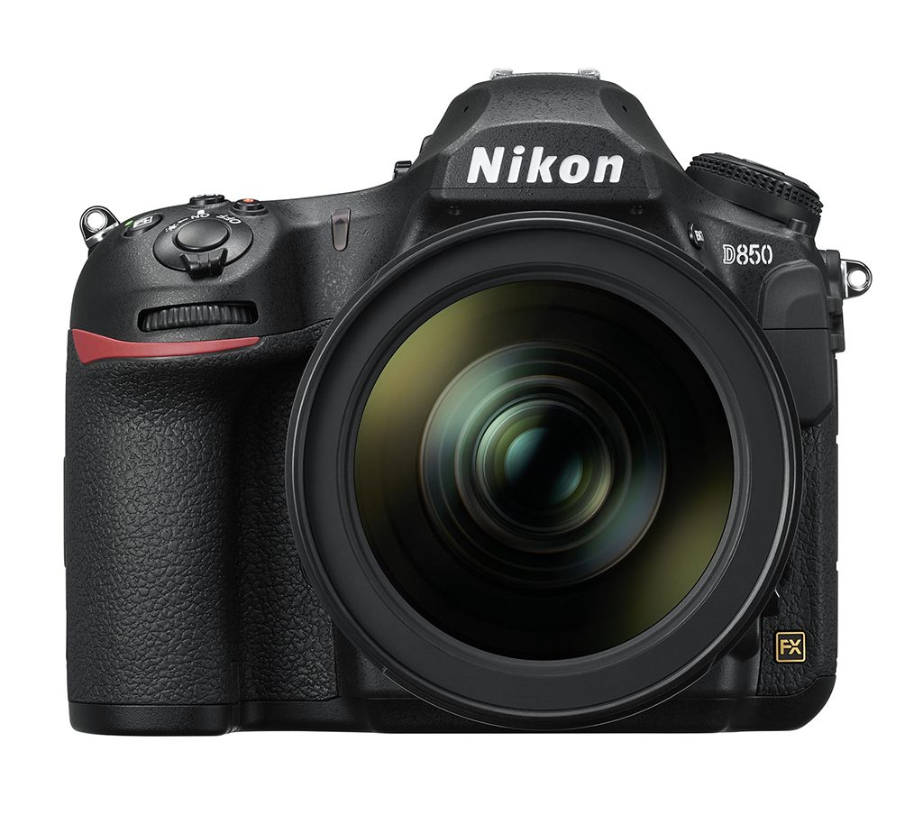 The Nikon D850 full-frame DSLR with the 24-70mm lens.