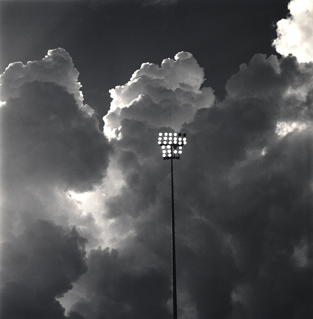 """Sunset, Durham Bulls Athletic Park"" from the series Bull City Summer."