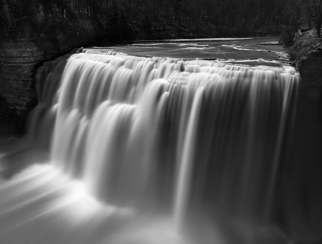 Middle Falls, Letchworth State Park: Crane says the long exposure was created by using a 10-stop neutral-density filter.