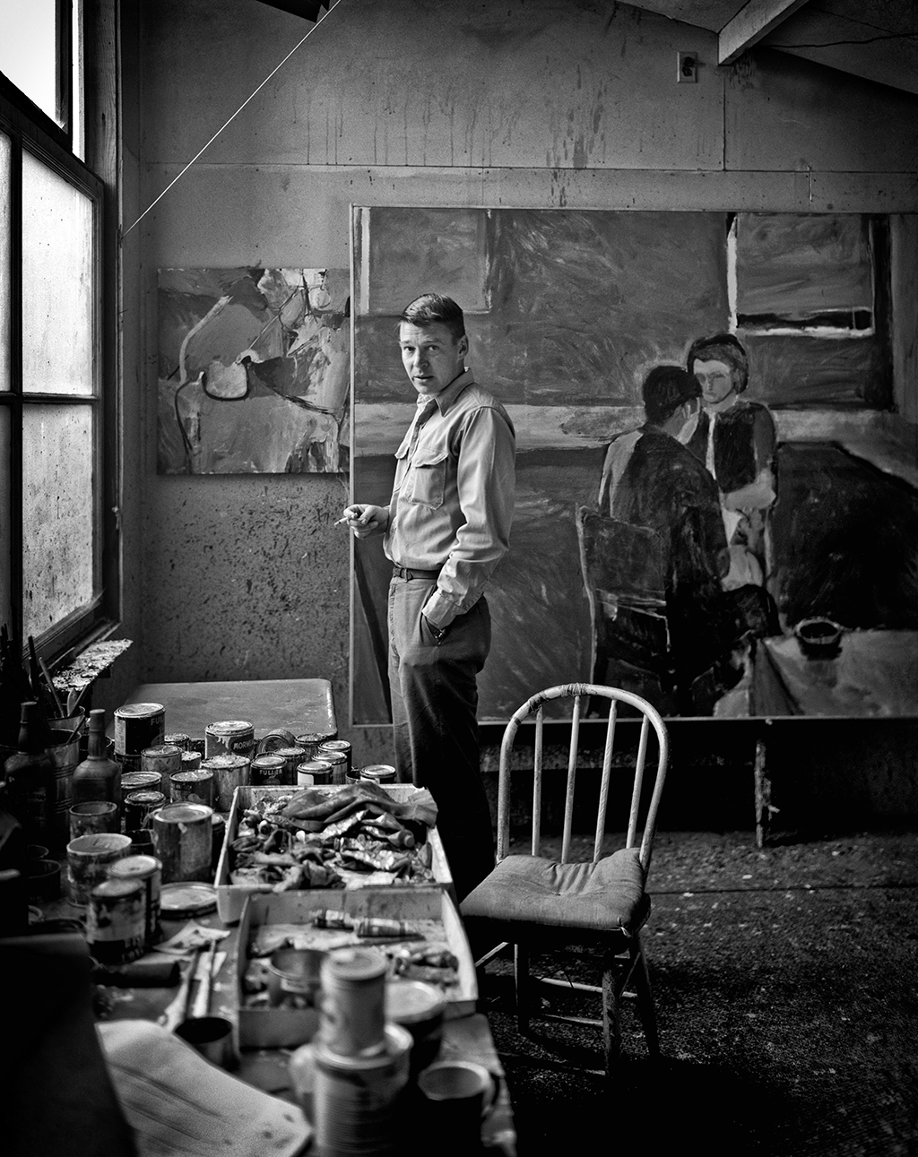 """Painter Richard Diebenkorn In His Studio"" by Fred Lyon."