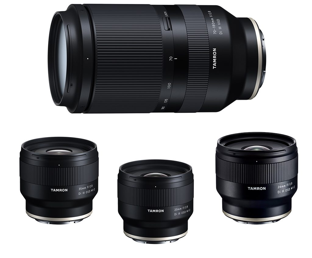 Tamron Announces Four Lenses Sony E-Mount Full-Frame Mirrorless Cameras