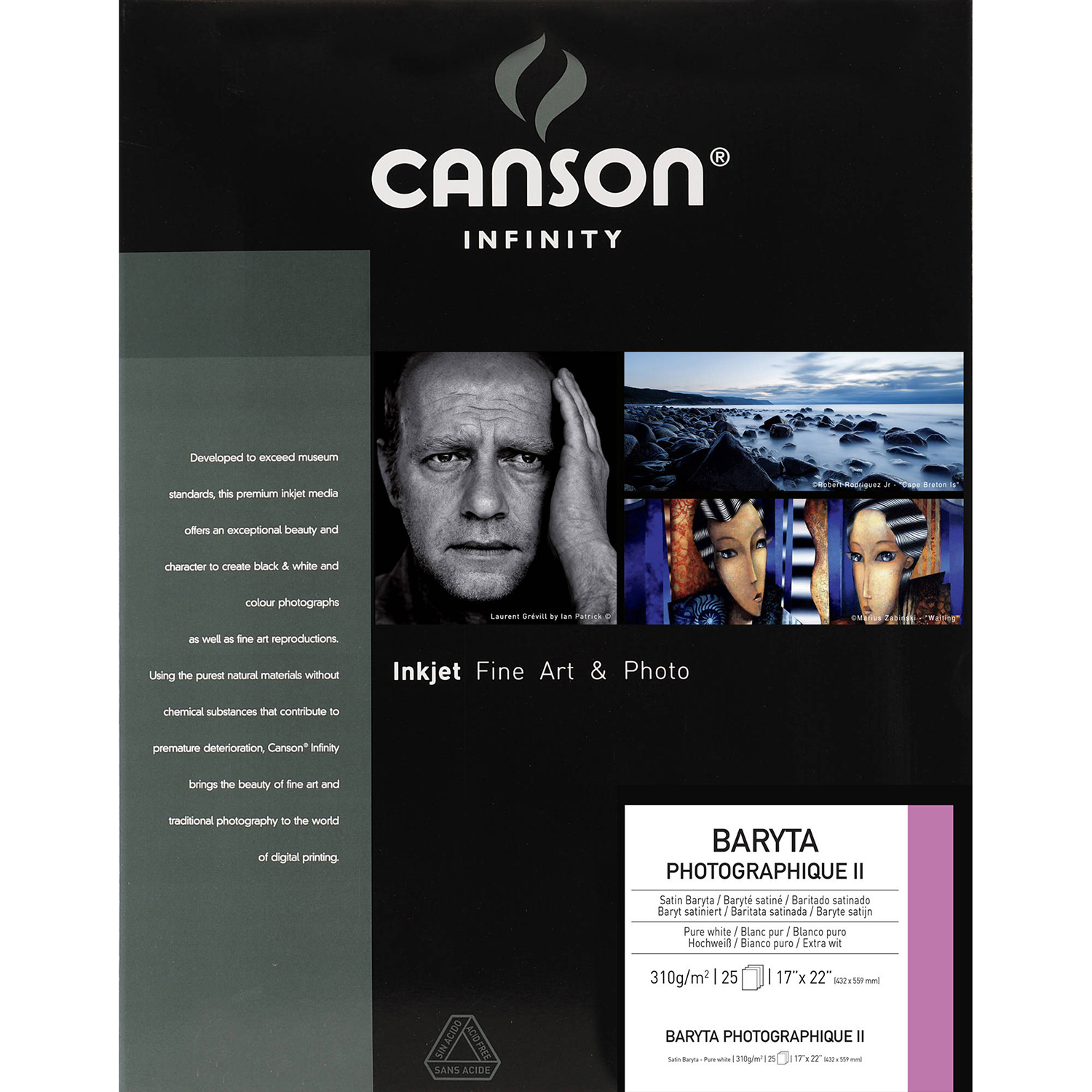 Box shot of Canson Infinity Baryta Photographique II