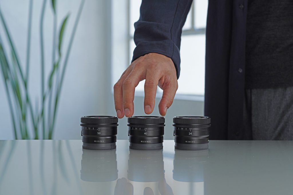 Sony Intros Trio of Affordable Full-Frame Lenses: FE 24mm F2.8 G, FE 40mm F2.5 G & FE 50mm F2.5 G