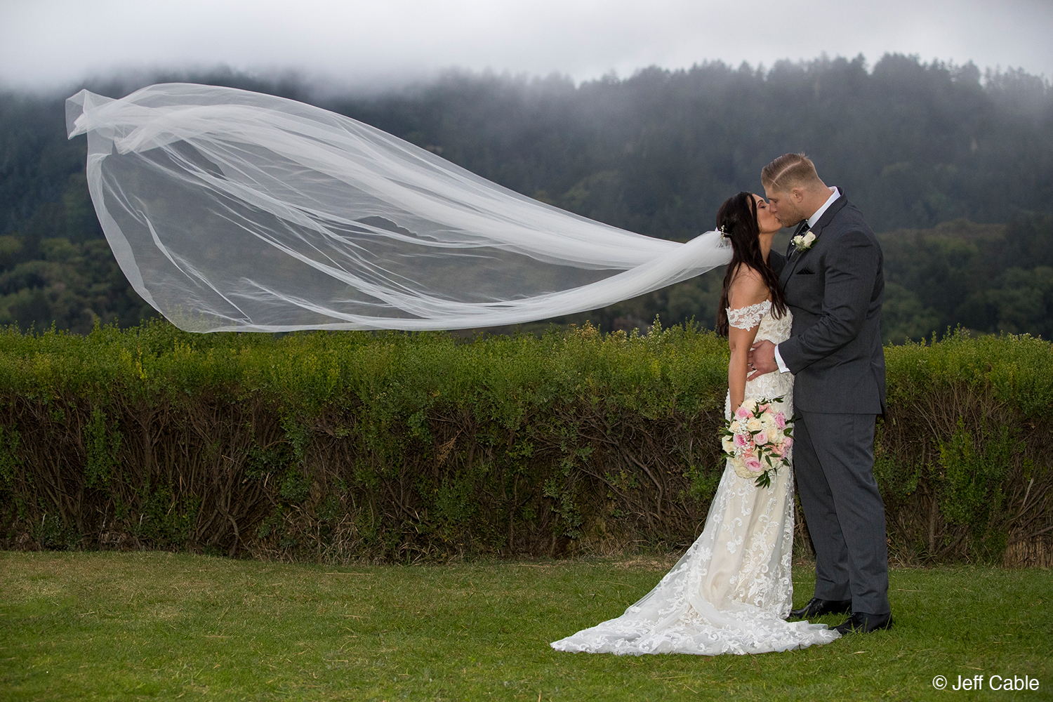 Photo of wedding couple by Jeff Cable