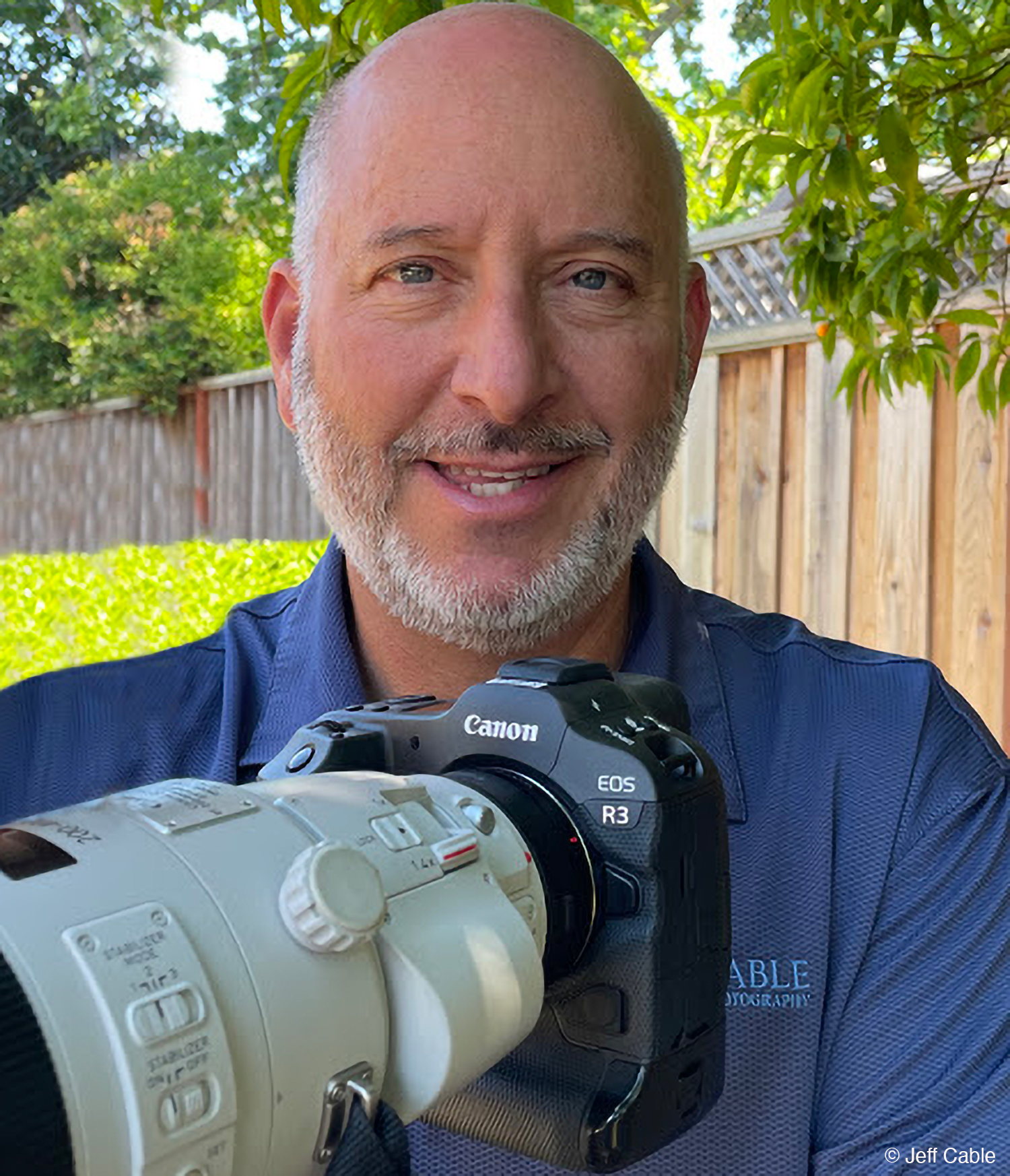 Photo of Canon R3 with Jeff Cable