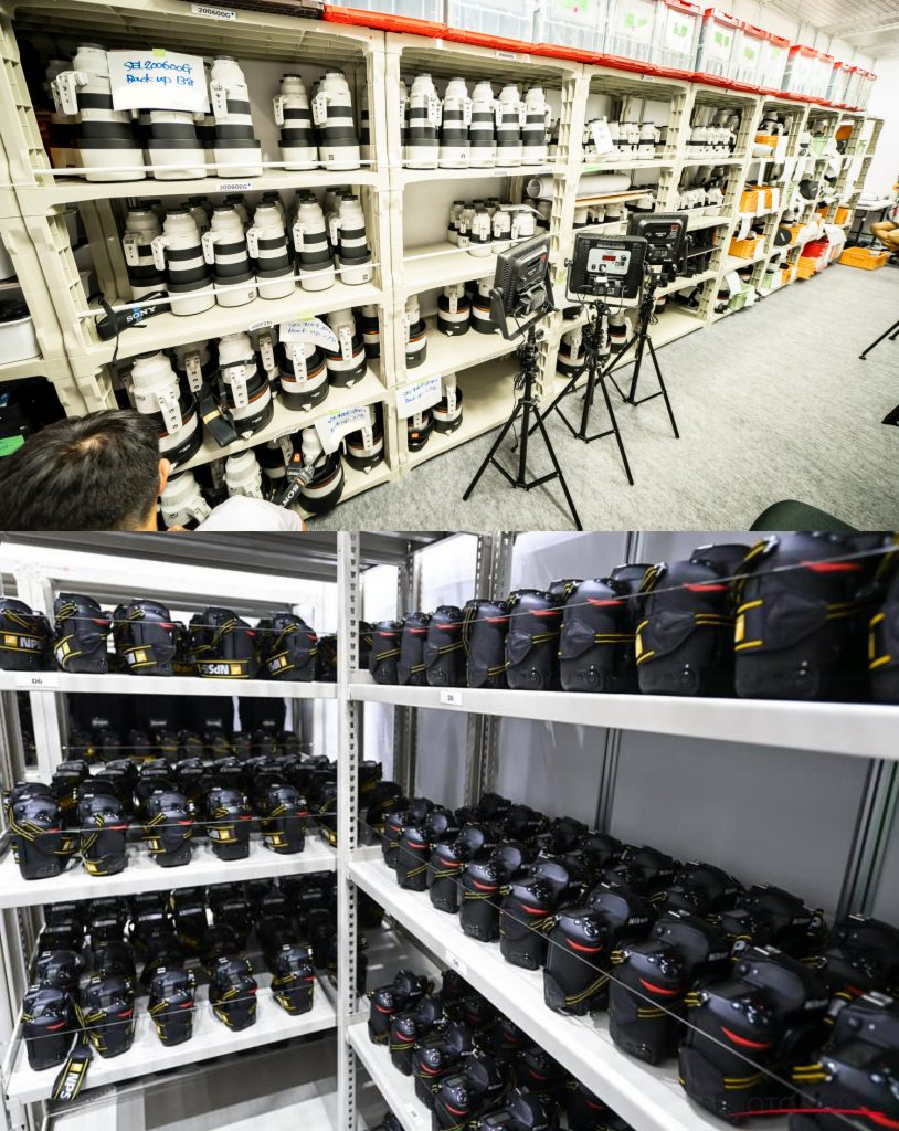 Here Is the Stockpile of Sony and Nikon Gear at the Tokyo Olympics