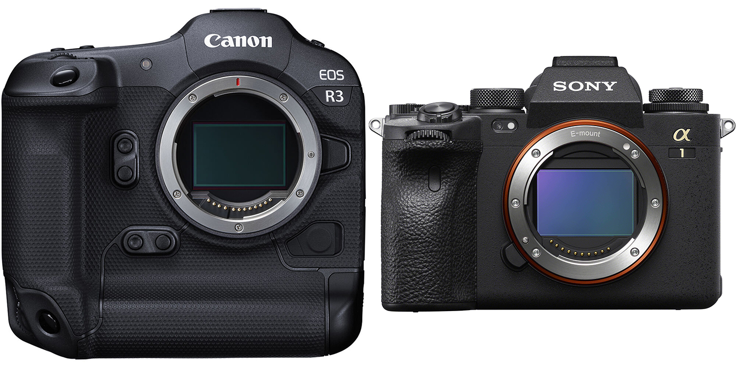 Photo of Canon R3 and Sony A1