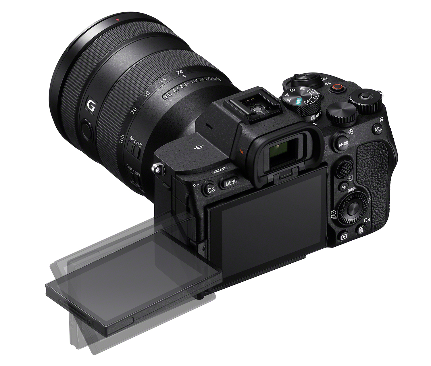 Photo of rear of Sony A7 IV LCD