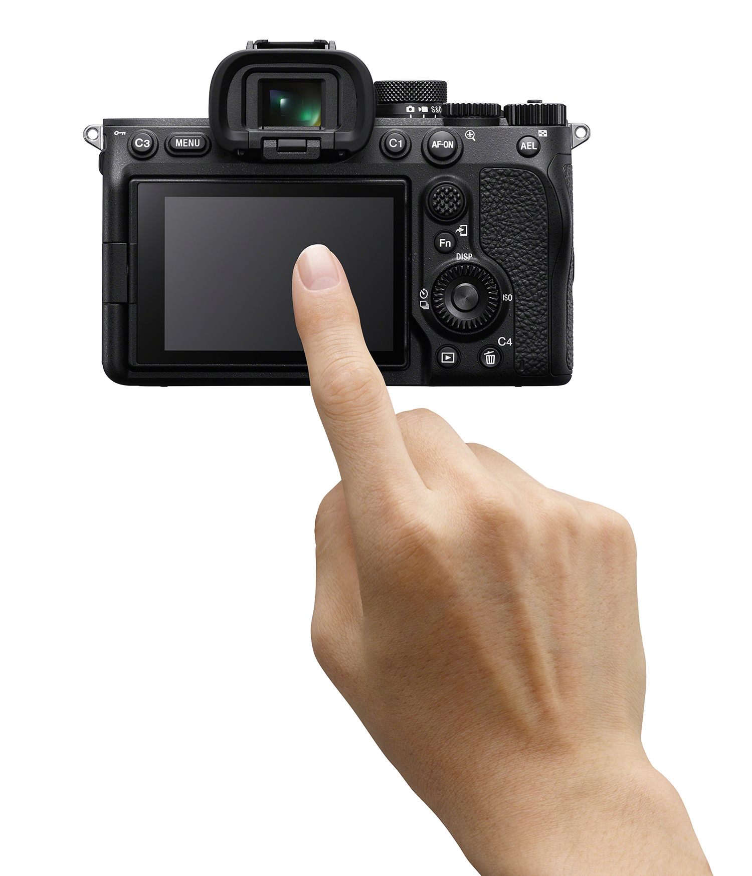 Photo of Sony A7 IV touchscreen