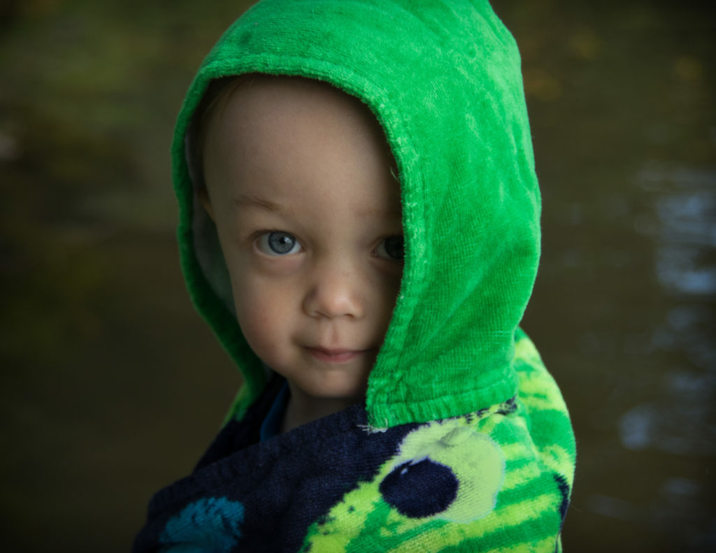 Little Boy Green at the Lake