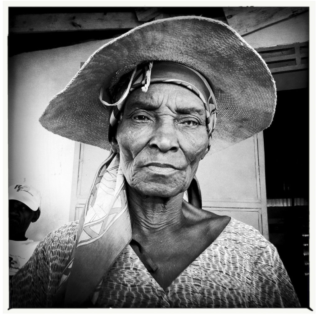 Blind Woman, leogane, Haiti