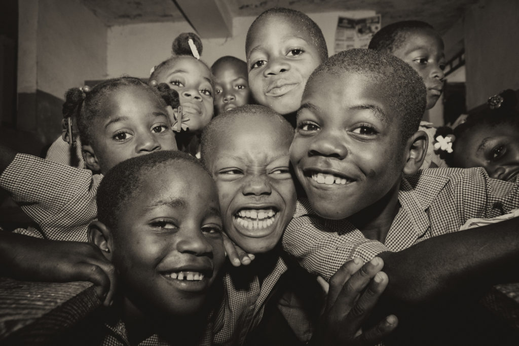 Faces of the School Children,  Leogane, Haiti