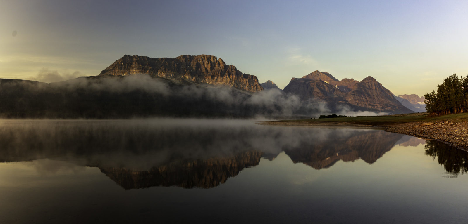 Morning Can Be Beautiful in Glacier National Park