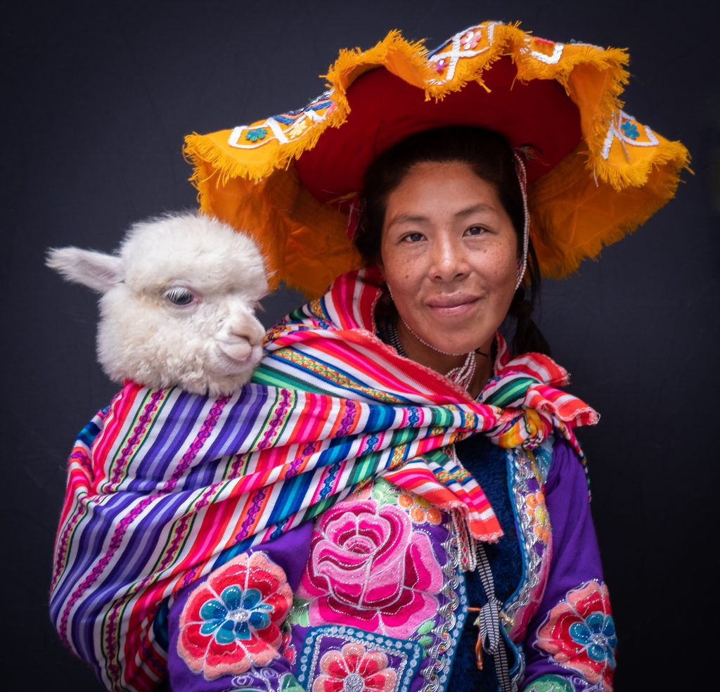 Cusco Woman With Llama
