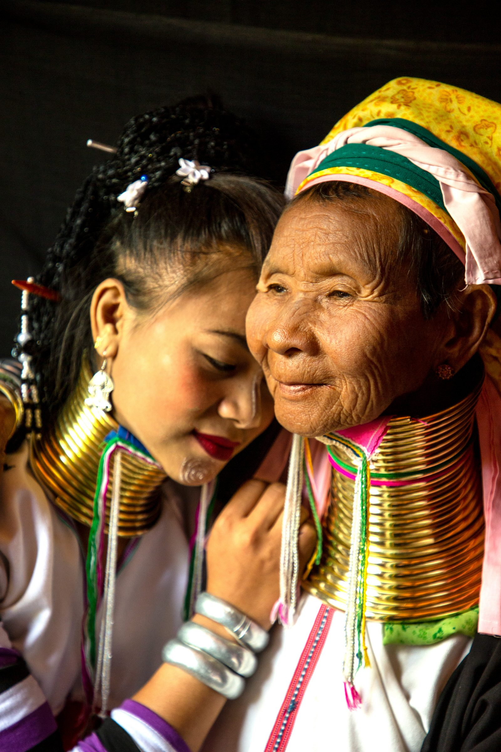 Two Ring Neck Women in Burma
