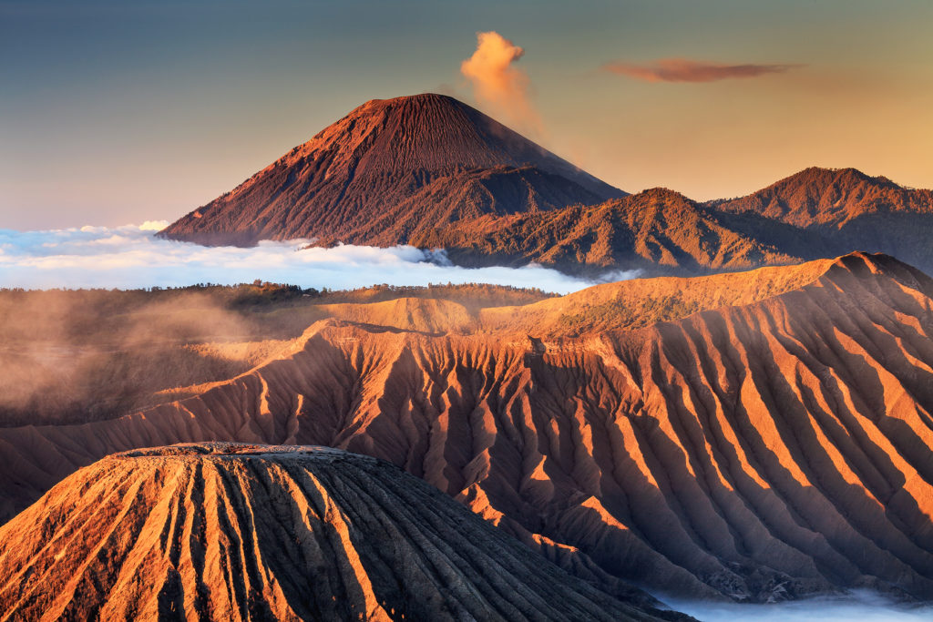 Morning Light at Mount Bromo
